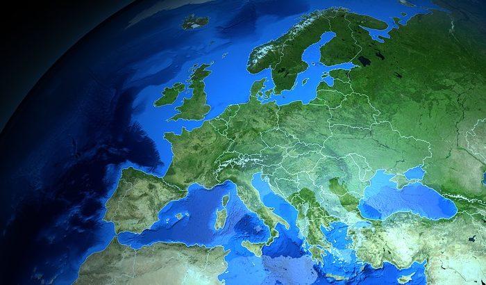 Karta över Europa